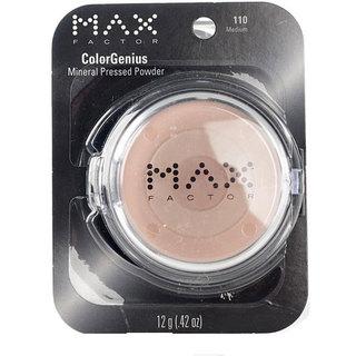 Max Factor ColorGenius # 110 Medium Mineral Pressed Powder (Pack of 4)