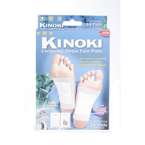 Shop As Seen On Tv Kinoki Cleansing Detox Foot Pads 14 Pads Pack Of