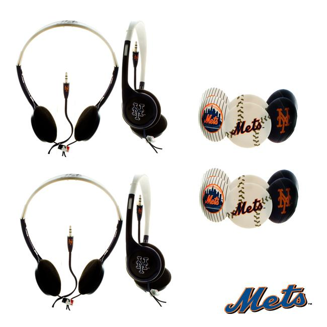Nemo Digital MLB New York Mets Headphones (Case of 2)