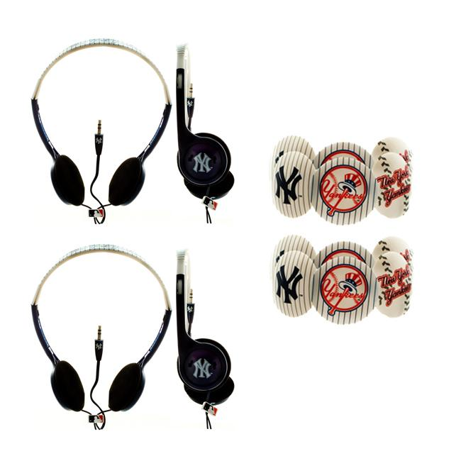 Nemo Digital MLB New York Yankees Headphones (Case of 2)