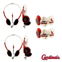 Nemo Digital MLB St. Louis Cardinals Headphones (Case of 2)