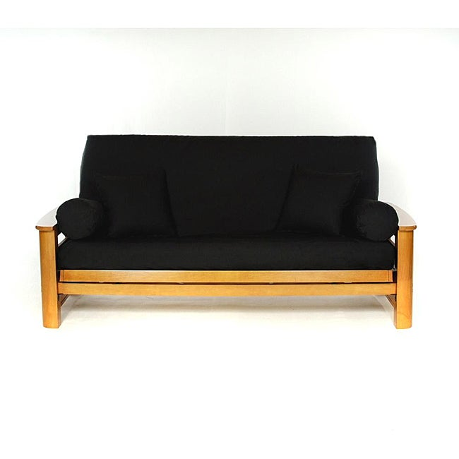 Lifestyle Covers Black Full-size Futon Cover