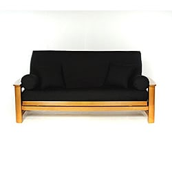 Black Full-size Futon Cover