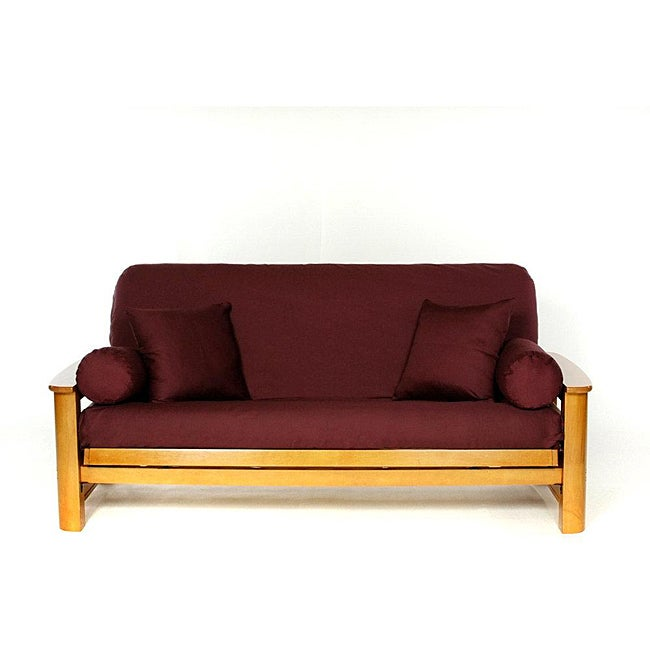 Lifestyle Covers Burgandy Full-size Futon Cover