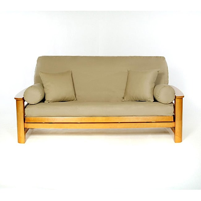 Lifestyle Covers Khaki Full Size Futon Cover