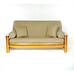Lifestyle Covers Khaki Full-size Futon Cover