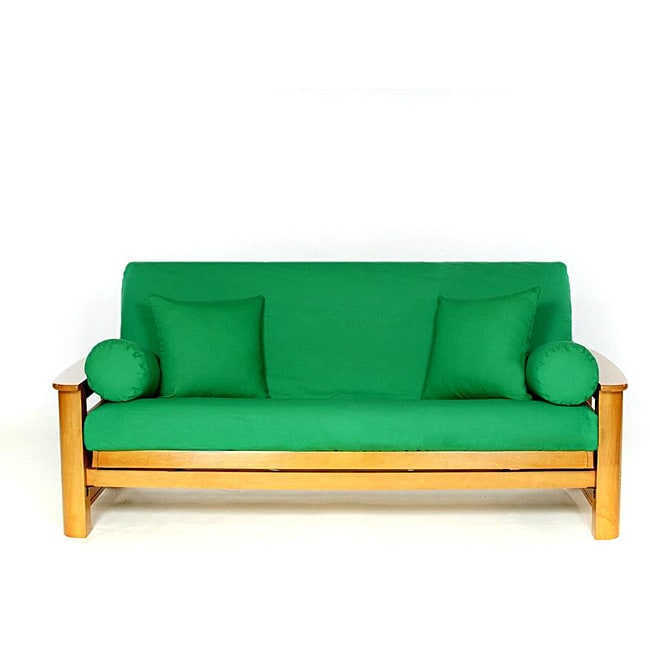 Lifestyle Covers Kilarney Green Full-size Futon Cover