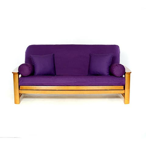 Lifestyle Covers Purple Full Size Futon Cover