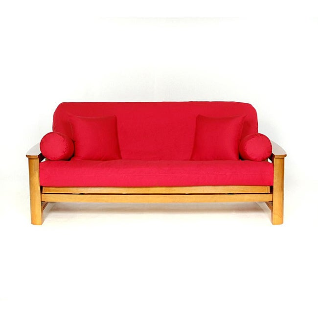 Lifestyle Covers Red Full Size Futon Cover