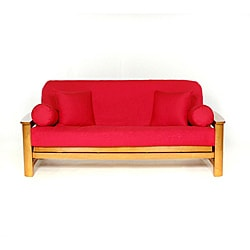 Lifestyle Covers Red Full-size Futon Cover