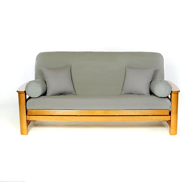 Lifestyle Covers Smoke Grey Full-size Futon Cover - Free Shipping Today - Overstock.com - 12936354