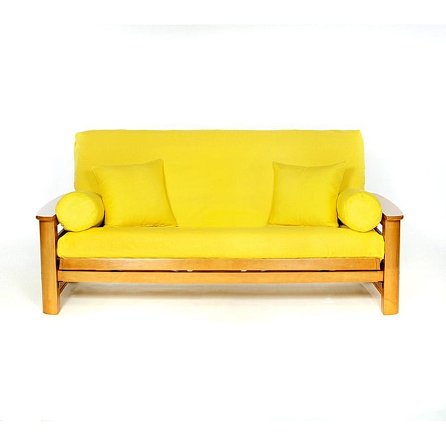 Lifestyle Covers Yellow Full Size Futon Cover