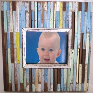 Boat Wood Jigsaw Photo Frame (Thailand)