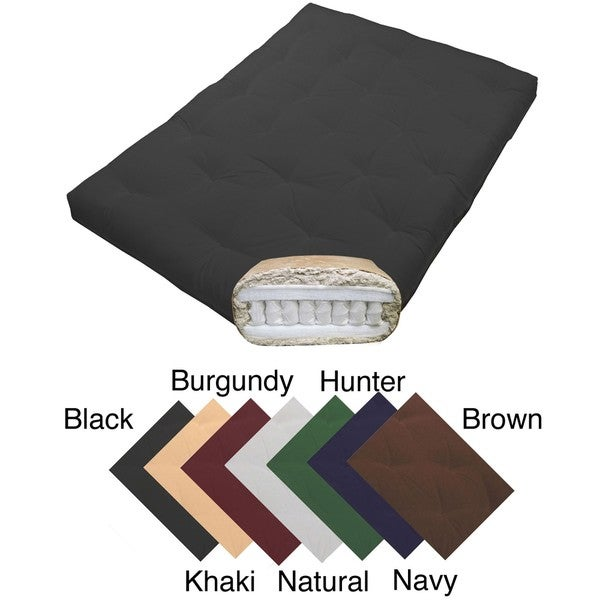 Magnificence Full-size 10-inch Pocketed Coil Cotton Twill Futon Mattress