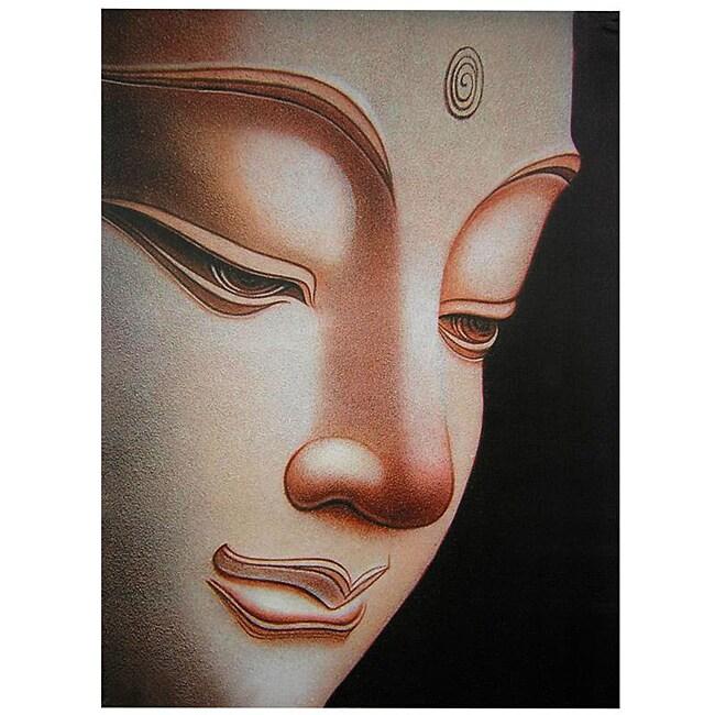 Handmade Buddha Canvas Wall Art (China)