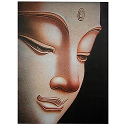 Handmade Buddha Canvas Wall Art (China)