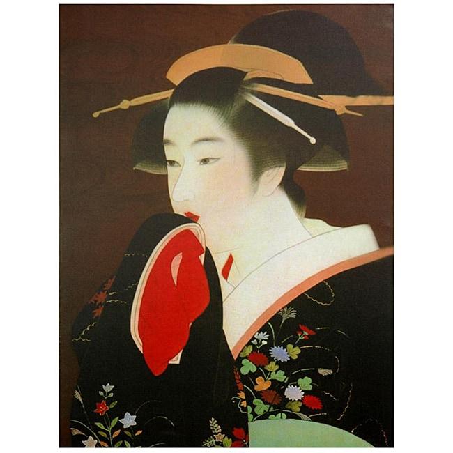 Handmade Geisha Canvas Wall Art (China)