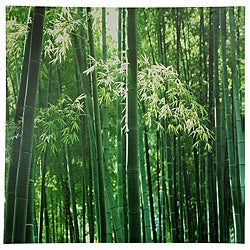 Handmade Bamboo Grove Canvas Wall Art (China)