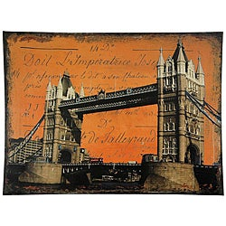 Handmade Tower Bridge Canvas Wall Art (China)