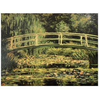 Monet 'The Japanese Bridge' at Giverny Canvas Wall Art (China)