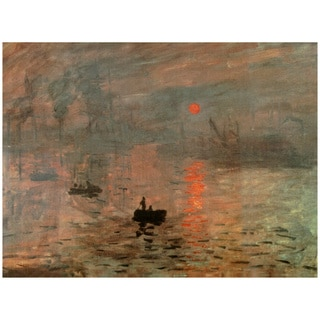 Handmade Monet 'Impression Sunrise' Canvas Wall Art (China)