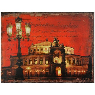 Handmade German Opera House Canvas Wall Art (China)