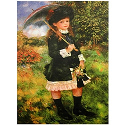 Handmade Renoir 'Young Girl with Parasol' Canvas Wall Art (China)