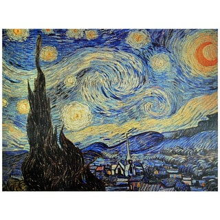 Handmade Van Gogh 'Starry Night' Canvas Wall Art (China)