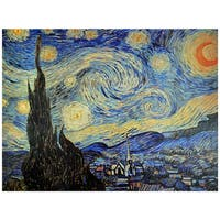 Handmade Van Gogh 'Starry Night' Canvas Wall Art (China)