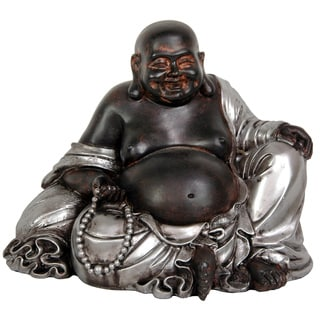 Handmade Sitting 7-inch Lucky Buddha Statue (China)