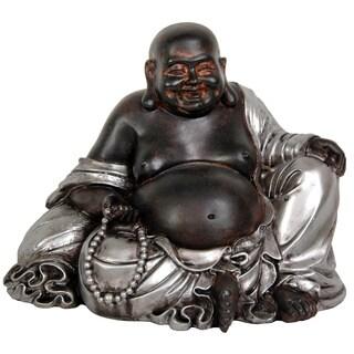 Handmade Sitting 7-inch Lucky Buddha Statue (China)