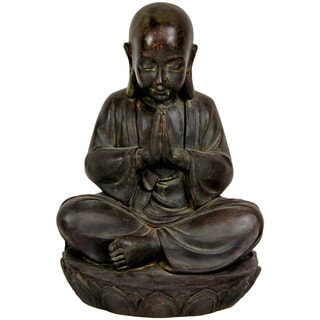 Sitting 16-inch Japanese Zen Monk Statue (China)