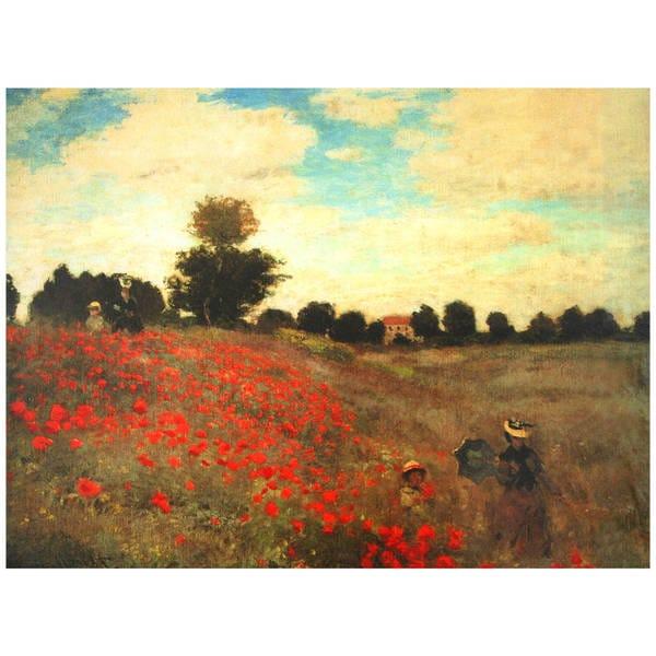 Handmade Monet 'Poppies' Canvas Wall Art (China)