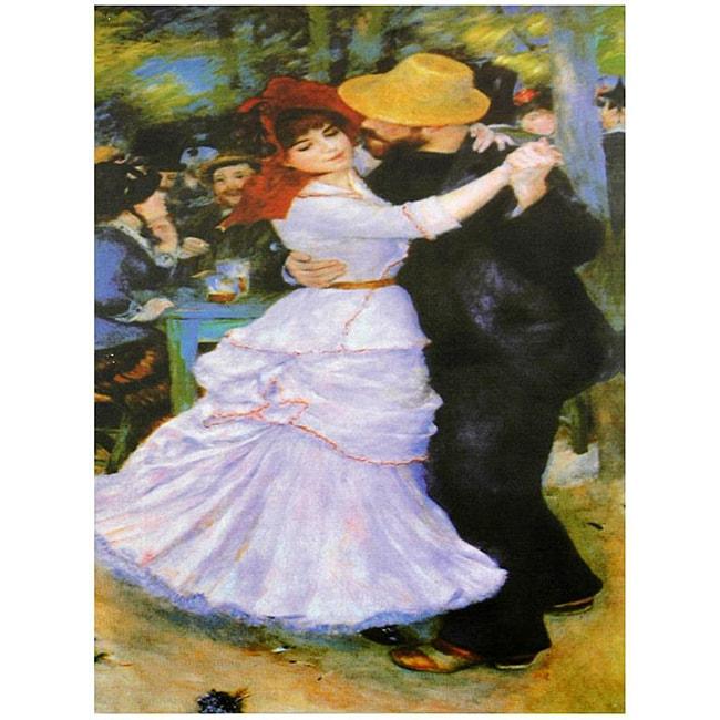 Handmade Renoir 'Dance at Bougival' Canvas Wall Art (China)