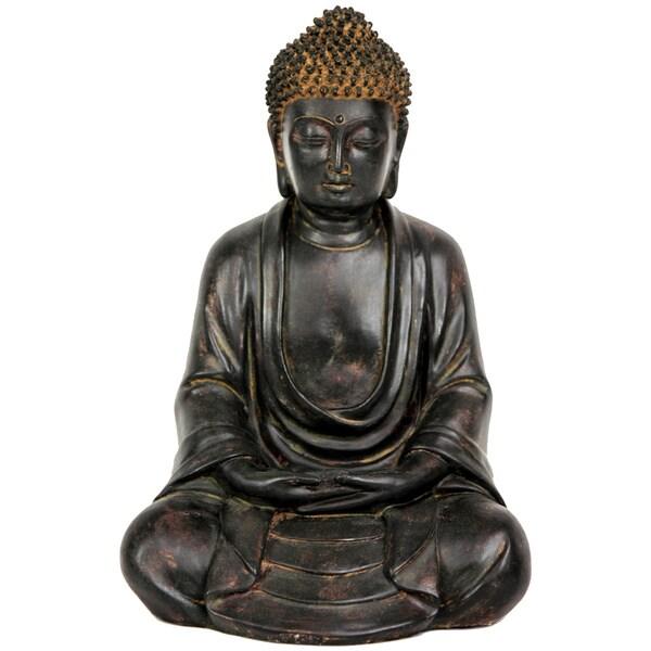 Handmade Japanese 9.5-inch Sitting Buddha Statue (China)