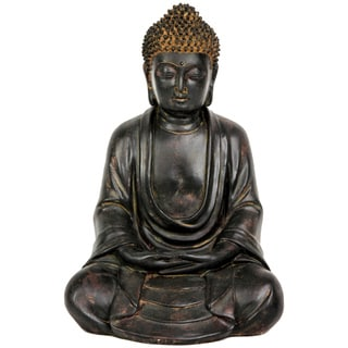 Handmade Japanese 9.5-inch Sitting Buddha Statue (China)