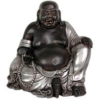 Handmade Sitting 11.5-inch Happy Buddha Statue (China)