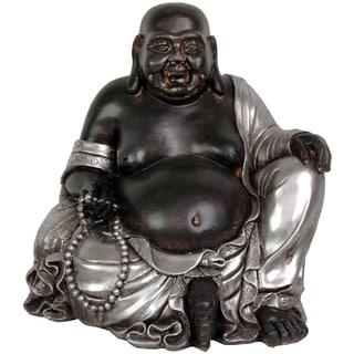 """Handmade 11.5"""" Happy Buddha Statue"""