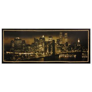 Handmade New York Skyline Canvas Wall Art (China)