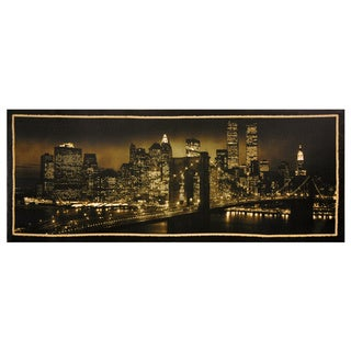 Handmade New York Skyline Canvas Wall Art (China)