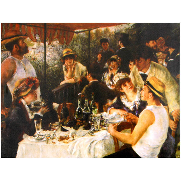 Handmade Renoir 'Luncheon' Canvas Wall Art (China)