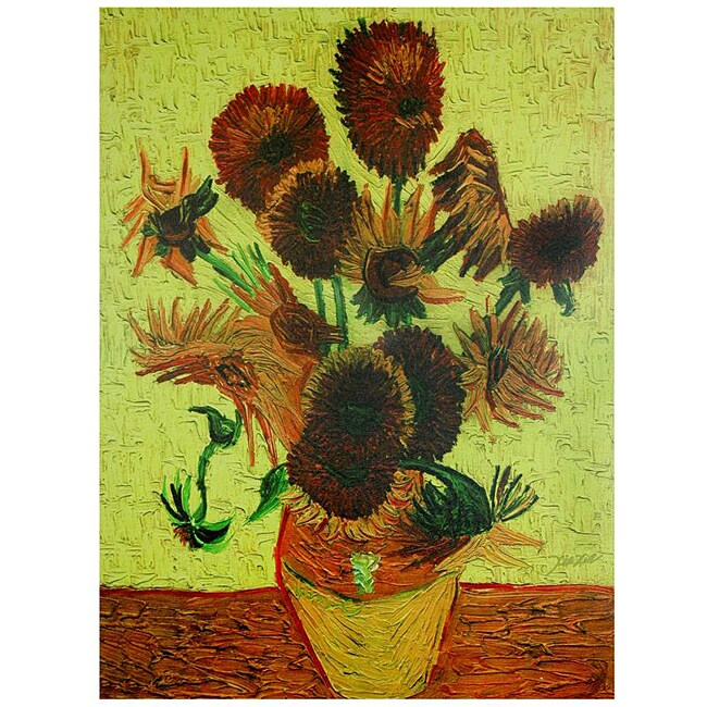 Van Gogh 'Sunflowers' Canvas Wall Art (China)