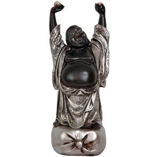 Handmade Standing Two-tone 11.5-inch Dancing Buddha Statue (China)