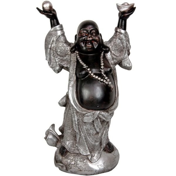 "Handmade 17"" Prosperity Buddha Statue"
