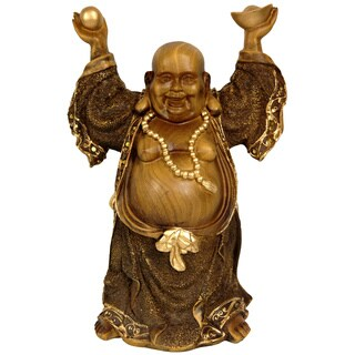 Handmade Standing 12.5-inch Prosperity Buddha Statue (China)