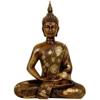 "Handmade Thai Sitting 11.5-inch Buddha Statue (China) -  8.50""W x 4.00""D x 11.50""H"