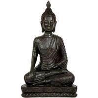 Handmade Laotian 10-inch Sitting Buddha Statue (China)