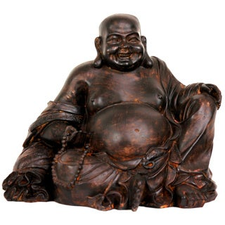 Sitting 8-inch Laughing Buddha Statue (China)