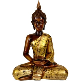 Handmade Thai 16.5-inch Sitting Buddha Statue (China)