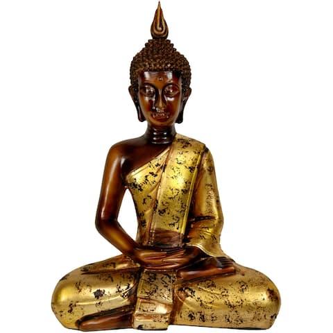 """Handmade 16.5"""" Sitting Buddha Statue"""